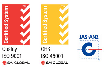 SAI Global - ISO 9001 AS 4801 Certified